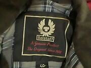 Belstaff Gold Label Oil Cloth Waxed Cotton Motorcycle Jacket Womenand039s 40