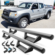 Fits 05-20 Toyota Tacoma Double Cab Bck Style Side Step Nerf Bars