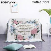 Idyllic Wreath Knitted Throws Blanket Sofa Blankets Towel Double-sided Tapestry