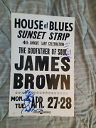 James Brown Soul Hall Of Fame Autographed Original Boxing Style Concert Poster