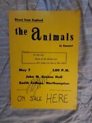 The Animals Eric Burdon Autographed Hall Of Fame Boxing Style Concert Poster