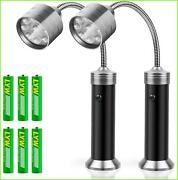2 X Barbecue Grill Light Magnetic Base Super-bright Led Bbq Lights - 360 Degree