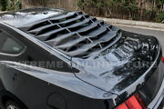 Abs Plastic Rear Window Louver Sun Shade Cover For 15-up Ford Mustang Fastback