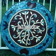30 Marble Table Top Antique Lapis Mosaic Art Inlay Design Occasion Decor H4041a