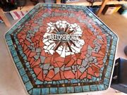 36and039and039 Marble Mosaic Turquoise Center Dining Table Top Inlay Handicraft Decor Gift
