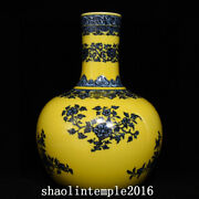 China Qing Dynasty Blue And White Branch Flower Pattern Celestial Bottle