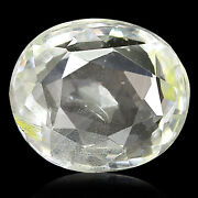 Ceylonese White Sapphire 3.25 Ct Unheated Agr Certified Natural Oval Gemstone
