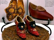 Vintage Collectable Beautiful Miniature Pair Of Red Shoes Ornaments Figurines