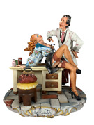 The Doctor Signed Capodimonte Porcelain Sculpture