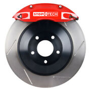 Stoptech For 09-15 Dodge Challenger Rear Bbk W/ Red St-40 Calipers Slotted Rotor
