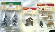 Lemax Christmas Village House Accessories Trees Arbor Dad And Fawns Nip