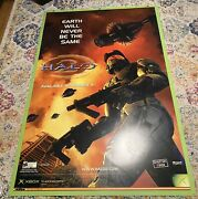 Massive Halo 2 Extremely Rare Embossed Poster Xbox Master Chief 6x4ft