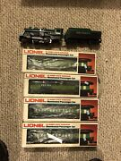 Lionel Engine 8302 Southern 2-4-2 With 4 Southern Pass Cars And A Caboose.