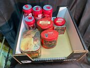 8x Coca Cola Water Bottle Double Wall Spill Proof And Tin Cans