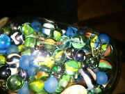 Marbles In Ball Top Jar Heavy Uncounted Marbles 4+ Pounds Vintage