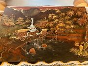 Asian Painting On Wood Panel By Thanh Lap Signed. Highly Collectible