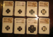 Lot Of 8 Ancient Roman Coins All With Cases And Ngc Graded