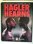 Rare 1985 Hagler Hearns Onsite Boxing Poster Caesars Palace Vegas Only 1 On Ebay