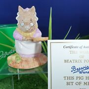 Beswick Ware Beatrix Potter This Pig Had A Bit Of Meat Limited Edition V/rare