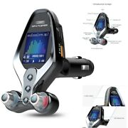 Car Fm Transmitter Mp3 Bluetooth Player Hands Free Radio Adapter Kit Usb Charger