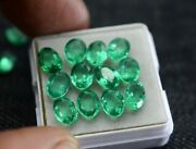 Certified Natural Calibrated Zambian Emerald Oval Cut 7x5 Mm Lot Loose Gemstone