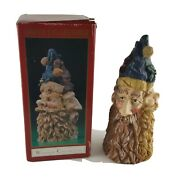 Santa 3 Faces Hats Windsor Collection Resin Whimsical Character Christmas Tree