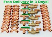 Lot Of 45 1 Propress Copper Fittings.tees Elbows Coupling Press Ball Valv