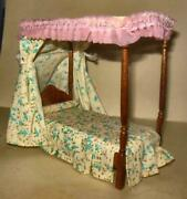 Victorian Federal Canopy Bed Walnut 5273 Dollhouse Furniture Miniatures