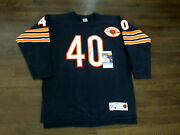 Gale Sayers Hof Chicago Bears Signed Auto Throwback Champion Jersey Jsa Beauty