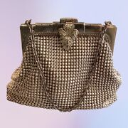 Vintage 1940's Whiting And Davis Silver Mesh Bag