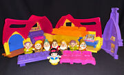 Fisher Price Little People Snow White And 7 Dwarfs Musical Cottage House Table Bed