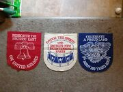Lot Of 3 Vintage United Airlines Bicentennial Banner Patriotic Aviation Ads Usa