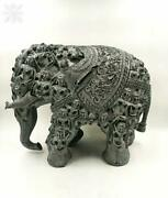 12 Handmade Elephant Statue Body Carving With Human Faces Animal Figurines Gift