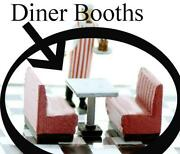 N Scale Diner Or Restaurant Booths Double And Single Booth Set Of 10 Unpainted