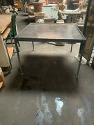Original C. 60s Richard Schultz For Knoll Metal And Enamel Patio Dining Table