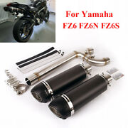 Motorcycle Mid Connect Pipe And Exhaust Muffler Db Killer For Yamaha Fz6 Fz6n Fz6s
