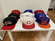 Vintage 80's-90's Hat Lot Of 9 Sports Hats 49ers And More .