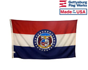 State Of Missouri Flag Durable All Weather Nylon Made In Usa Multiple Sizes
