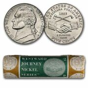 2004-p Peace Medal Nickel 40-coin Mint Wrapped Roll Bu - Sku36791