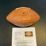 1977 Green Bay Packers Team Signed Nfl Football 51 Sigs With Bart Starr Jsa Coa
