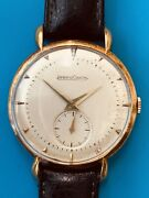 Jaeger Lecoultre Vintage Yellow Gold Oversized Dressy Wrist Watch 526