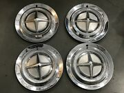 1 Set Vintage Dodge Dart Hubcaps Wheel Covers 14and039and039 1962 Pnl7
