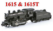 Lionel Pw 1615 0-4-0 Steam Engine And 1615t Tender /436/ 1956-57