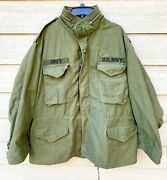 Genuine Usgi 1969 Coat Cold Weather Field Og-107 M-65 Jacket - X-large Regular.