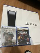 🔥sony Playstation 5 Bundle Disc Console Ps5 2 Games Ready To Ship 🔥
