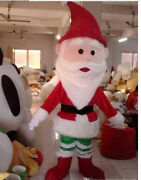 2020 Santa Claus Christmas Mascot Costume Suits Cosplay Party Game Dress Ad