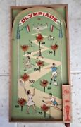 Vintage 1928 Amsterdam Olympics Toy Pinball Olympiade Game By Bagatelle