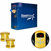 New Steam Generator Package, 10.5kw, Polished Brass
