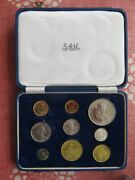 1961 South Africa Long Proof Set - Gold And Silver Low Mintage