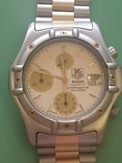 Gent Vintage Tag Heuer Professional 2000 Crossover Watch In Full Working Order